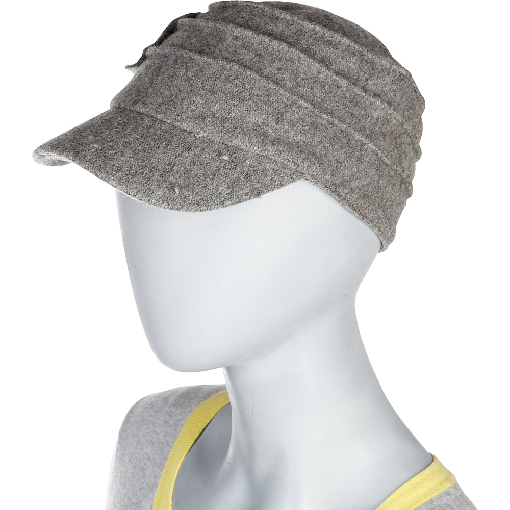 Betmar New York Ridge Flower Cap One Size - Charcoal - Betmar New York Hats/Gloves/Scarves