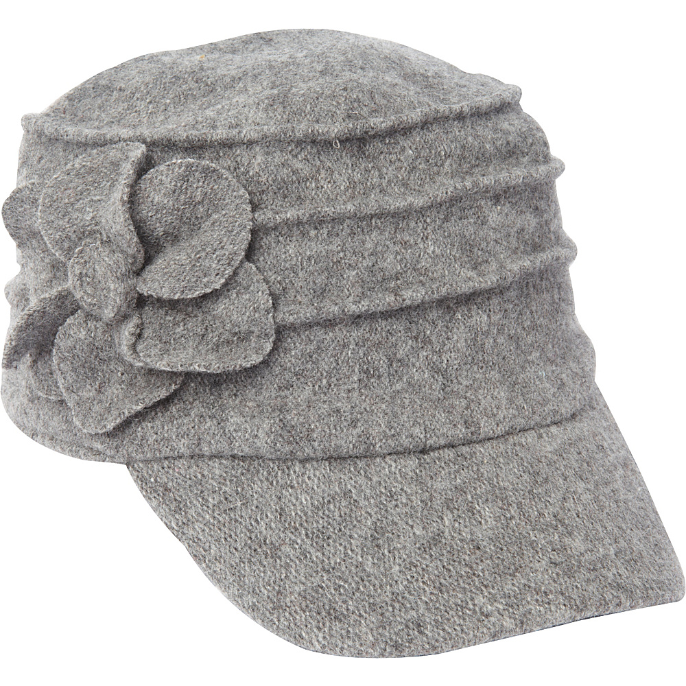 Betmar New York Ridge Flower Cap Charcoal Betmar New York Hats Gloves Scarves