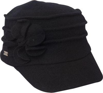 Betmar New York Ridge Flower Cap One Size - Black - Betmar New York Hats/Gloves/Scarves