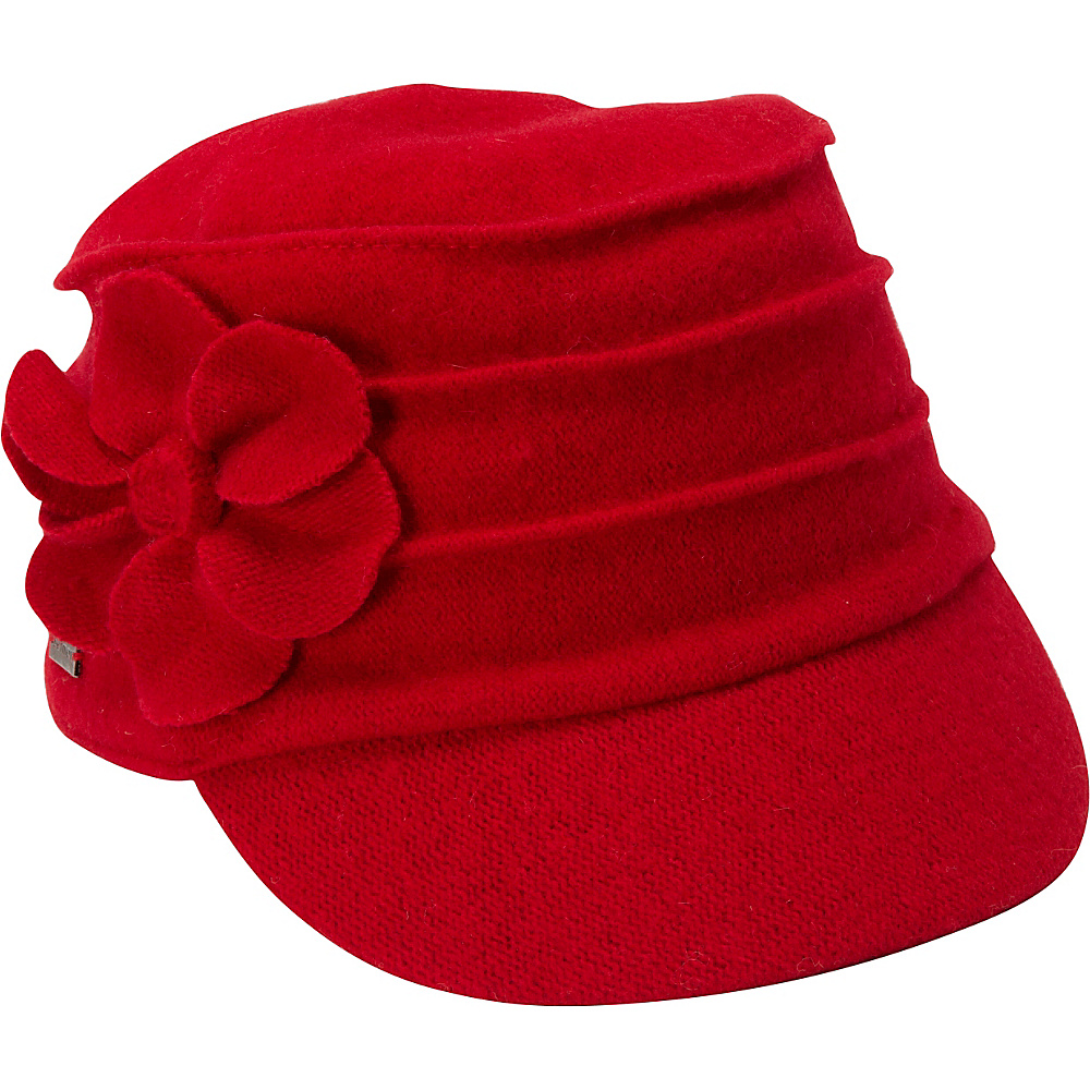 Betmar New York Ridge Flower Cap True Red Betmar New York Hats Gloves Scarves