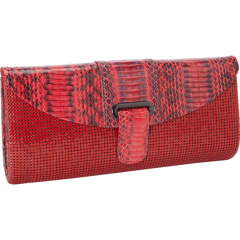 Whiting and Davis Candy Color Snake Red - Whiting and Davis Evening Bags