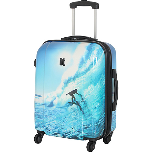IT Luggage Augusta Collection 4 Wheeled 22 Carry On Spinner Surfer - IT Luggage Small Rolling Luggage
