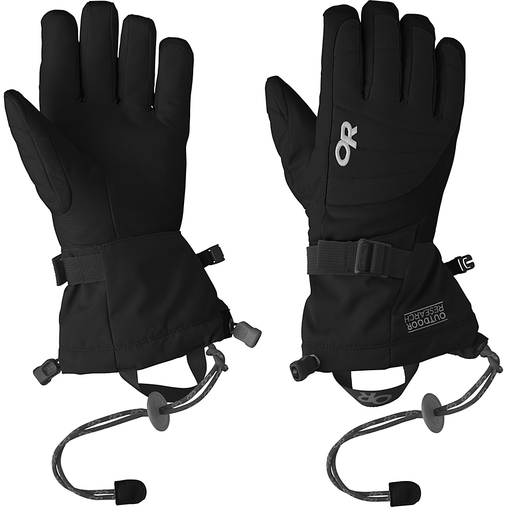 Outdoor Research Revolution Gloves Womens L - Black - Outdoor Research Hats/Gloves/Scarves - Fashion Accessories, Hats/Gloves/Scarves