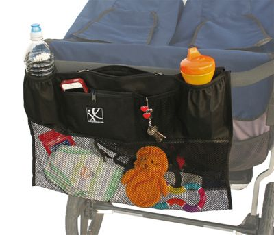 J.L. Childress Double Cargo Double Stroller Organizer Black - J.L. Childress Diaper Bags & Accessories