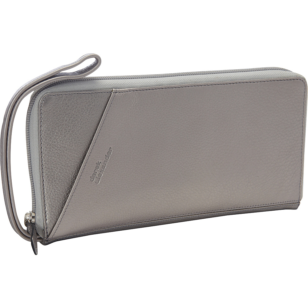 Derek Alexander Full Zip Travel Wallet Silver/Metallic - Derek Alexander Womens Wallets - Women's SLG, Women's Wallets