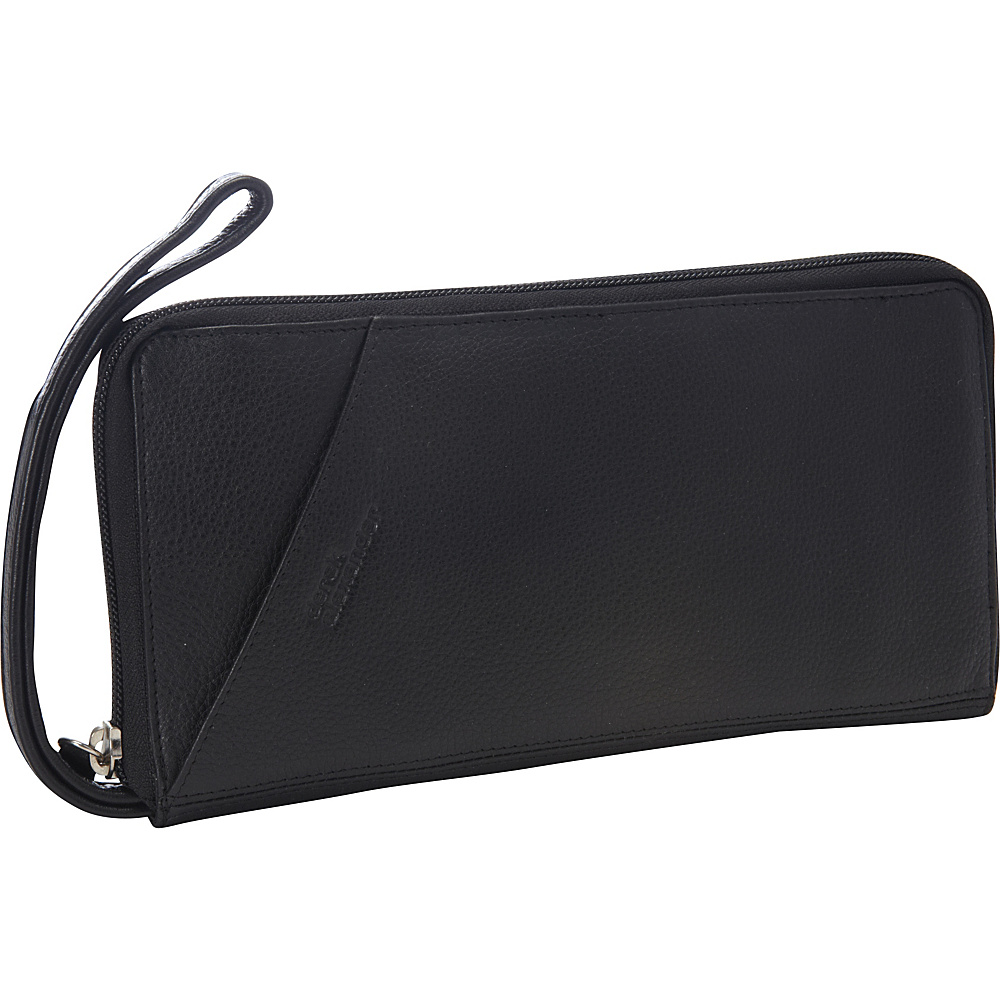 Derek Alexander Full Zip Travel Wallet Black - Derek Alexander Womens Wallets - Women's SLG, Women's Wallets