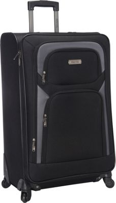 Kenneth Cole Reaction The Journey Ends Here Lightweight 28 inch 4 Wheel Expandable Upright Black - Kenneth Cole Reaction Softside Checked