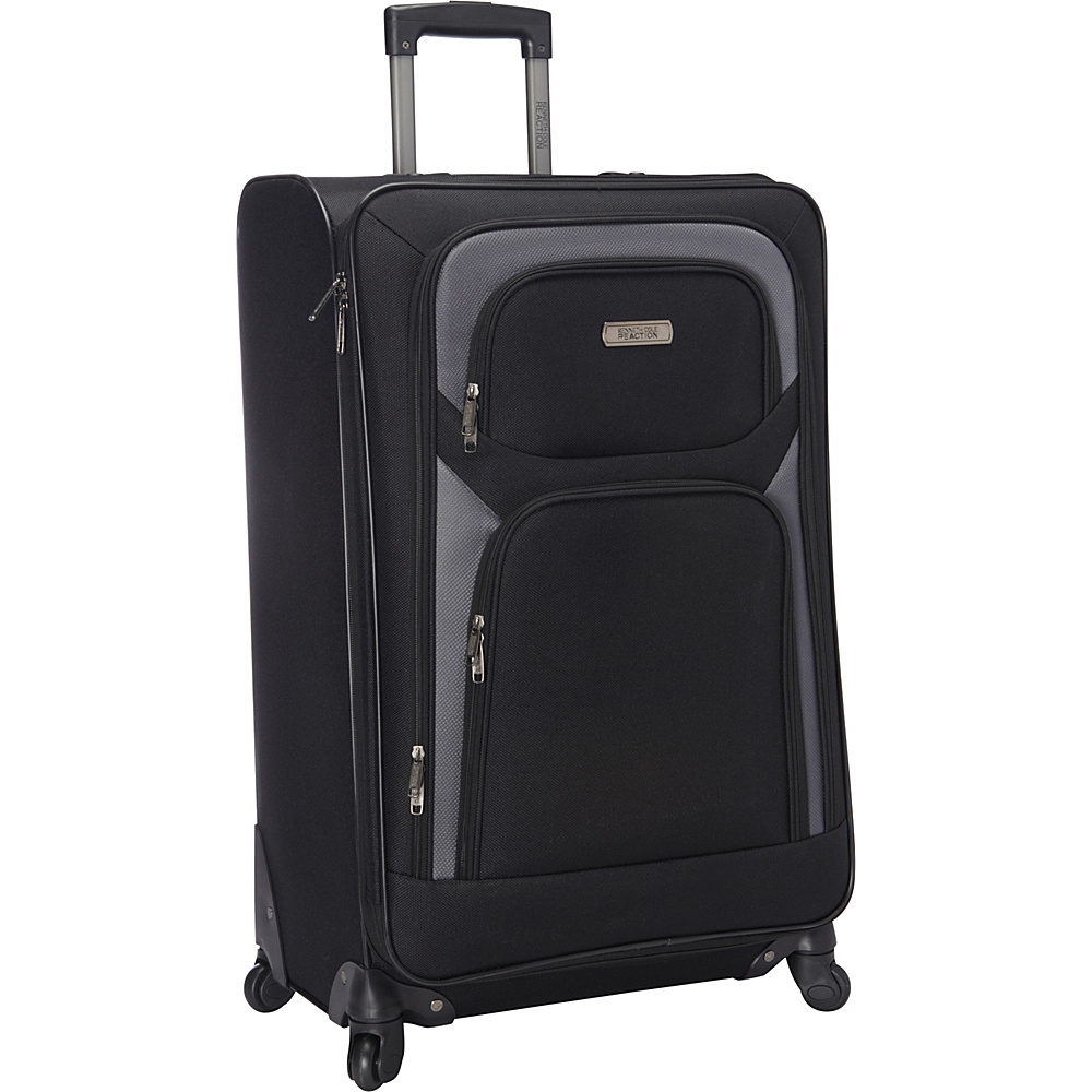 """Kenneth Cole Reaction The Journey Ends Here Lightweight 28"""" 4 Wheel Expandable Upright Black - Kenneth Cole Reaction Softside Checked"""