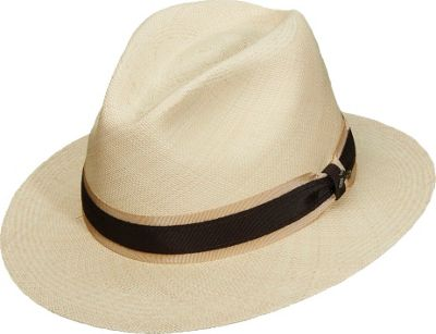 Tommy Bahama Headwear Panama Safari With TT Band One Size - Natural - Tommy Bahama Headwear Hats/Gloves/Scarves