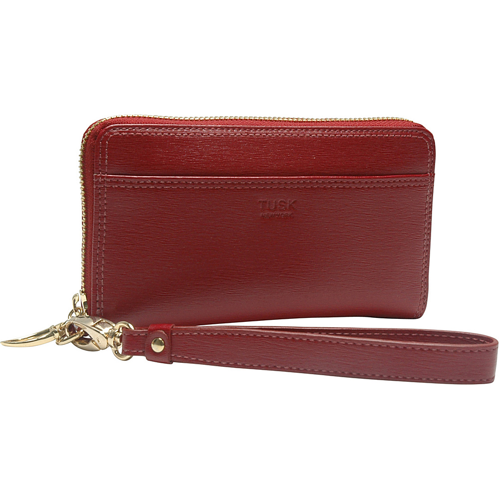 TUSK LTD Madison Smartphone Zip Wristlet Red TUSK LTD Women s Wallets