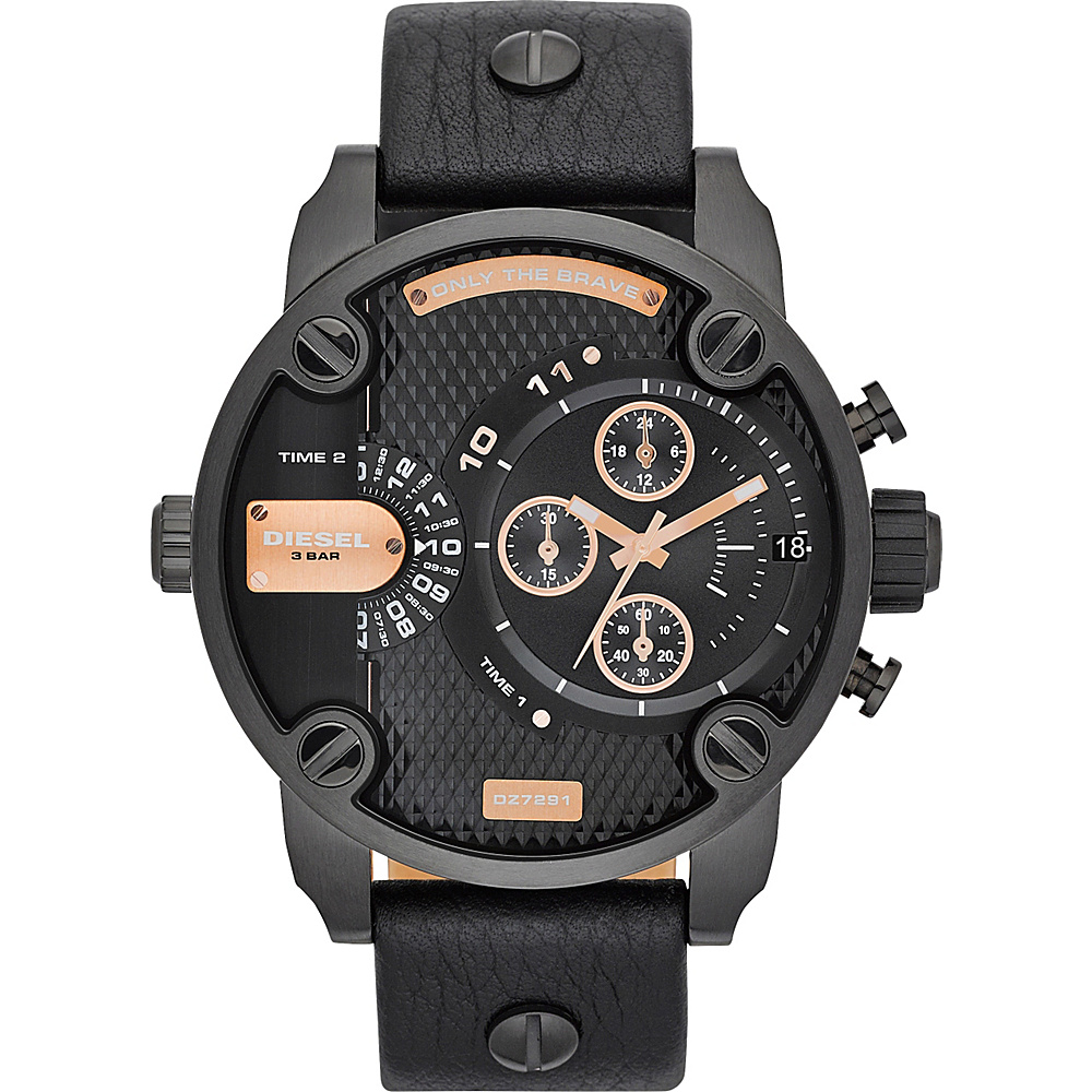 Diesel Watches Little Daddy Black and Rose Gold - Diesel Watches Watches