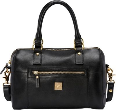 Piazza Madeline Satchel Black - Piazza Leather Handbags