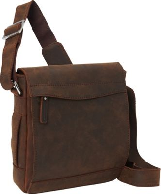 "Vagabond Traveler 10"" Cowhide Leather Satchel Bag Vintage Distress - Vagabond Traveler Other Men's Bags"