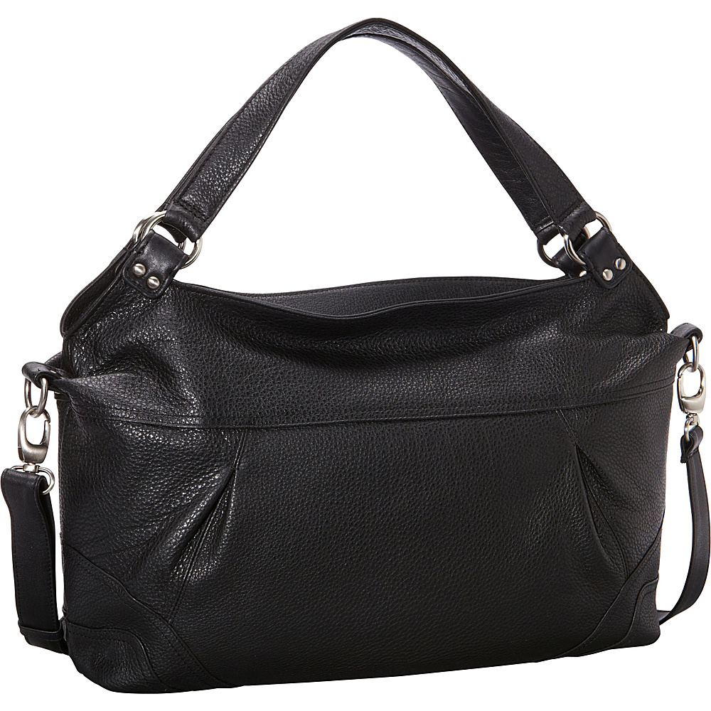 Derek Alexander EW Top Zip Shoulder Bag Black - Derek Alexander Leather Handbags - Handbags, Leather Handbags
