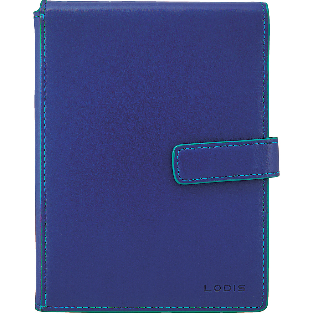 Lodis Audrey Passport Wallet with Ticket Flap - Fashion Colors Marine/Ivy - Lodis Travel Wallets - Travel Accessories, Travel Wallets