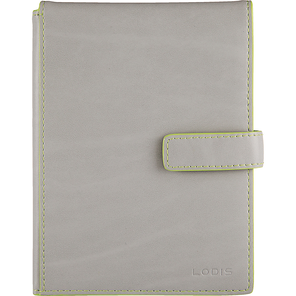 Lodis Audrey Passport Wallet with Ticket Flap - Fashion Colors Dove/Lime - Lodis Travel Wallets - Travel Accessories, Travel Wallets
