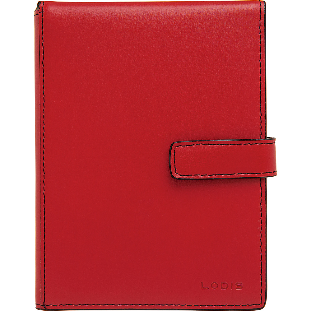 Lodis Audrey RFID Passport Wallet with Ticket Flap Red - Lodis Travel Wallets - Travel Accessories, Travel Wallets