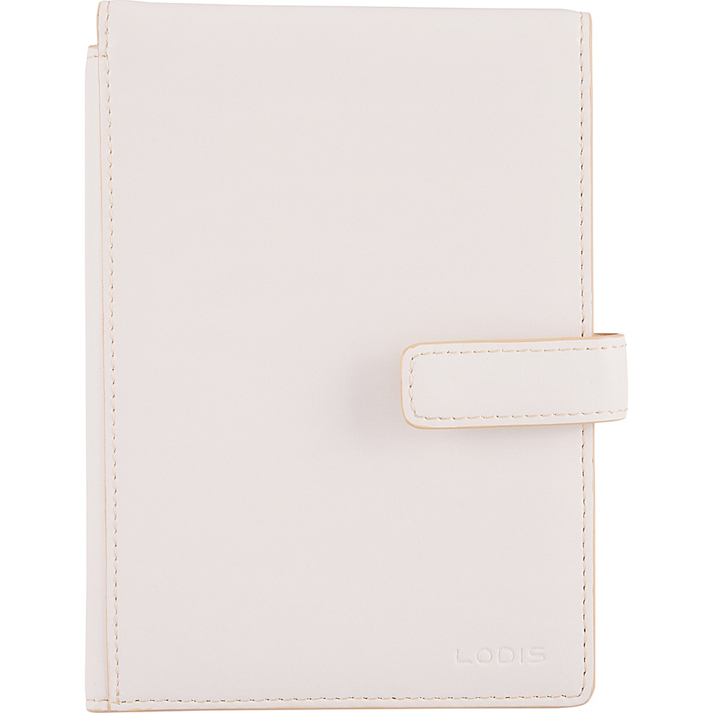 Lodis Audrey RFID Passport Wallet with Ticket Flap Cream/Natural - Lodis Travel Wallets - Travel Accessories, Travel Wallets