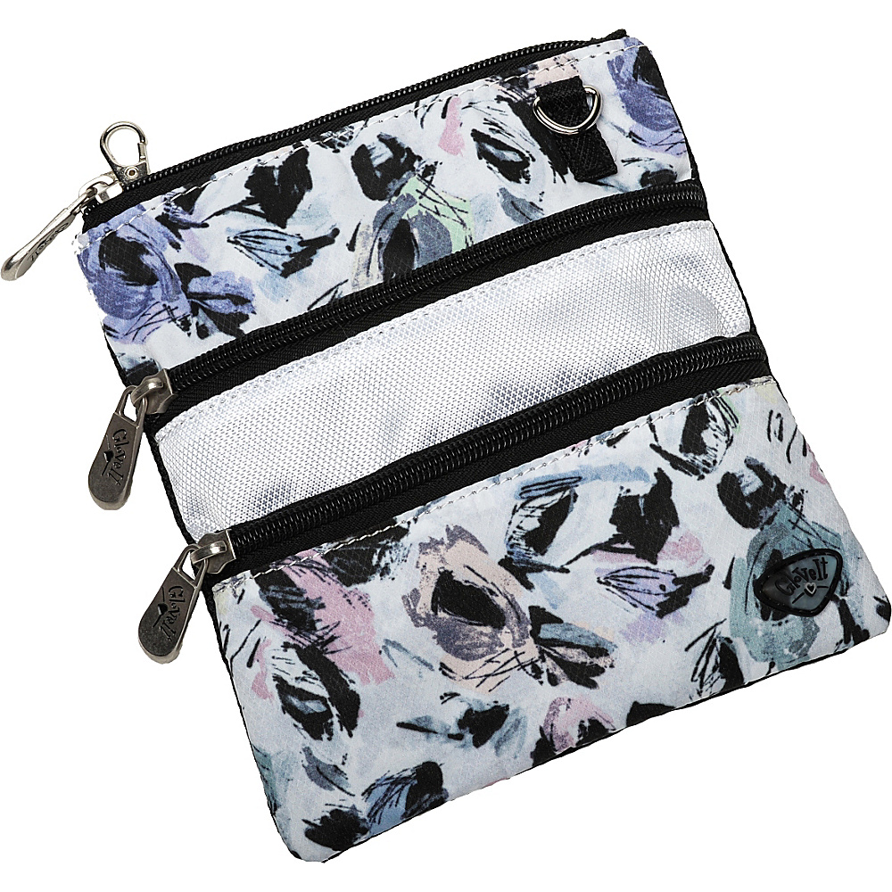 Glove It 3 Zip Bag Abstract Garden Glove It Fabric Handbags