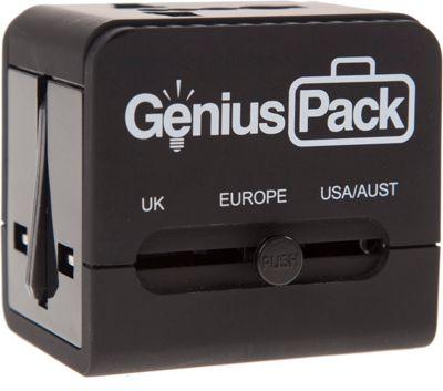 Genius Pack Universal Travel Adapter BLACK - Genius Pack Electronic Accessories
