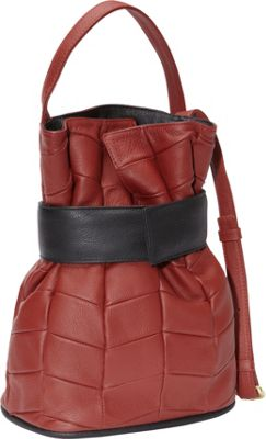 J. P. Ourse & Cie. Madison Patchwork Berry Red/Black - J. P. Ourse & Cie. Leather Handbags