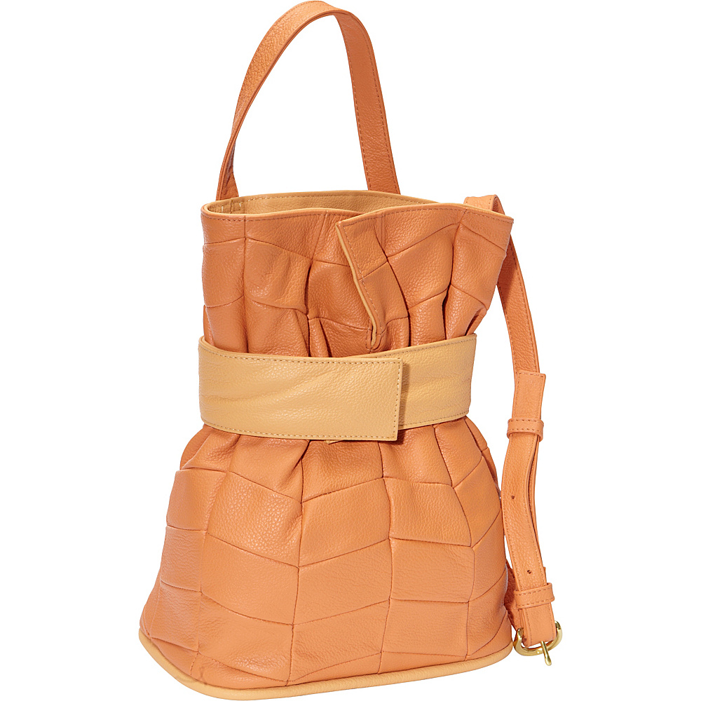 J.P. Ourse & Cie. Madison Patchwork Tangerine/Butter - J.P. Ourse & Cie. Leather Handbags