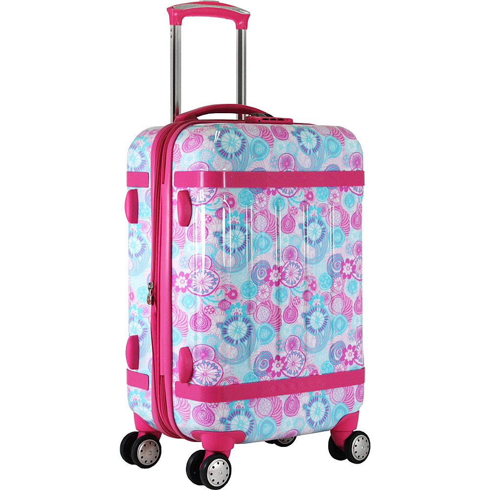 J World New York Taqoo Carry-on Luggage Blue Raspberry - J World New York Softside Carry-On - Luggage, Softside Carry-On