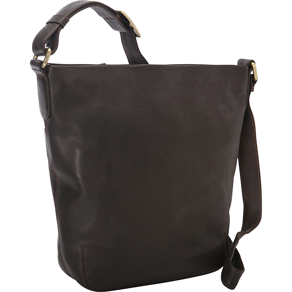 Derek Alexander NS Top Shoulder Zip Bag Brown - Derek Alexander Leather Handbags - Handbags, Leather Handbags