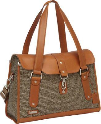 Hartmann Luggage Tweed Belting Carriage Bag Walnut Tweed - Hartmann Luggage Luggage Totes and Satchels