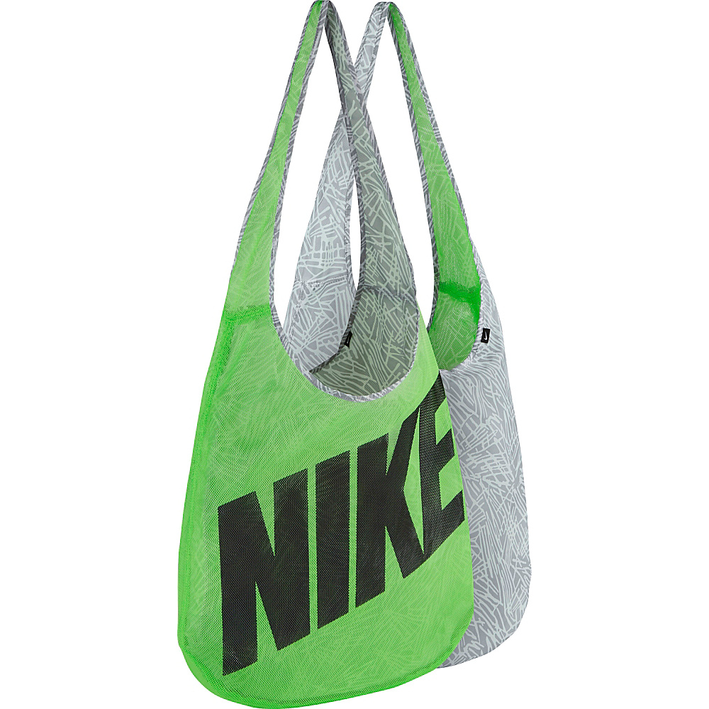 Nike Graphic Reversible Tote VOLTAGE GREEN/WOLF GREY//BLACK - Nike Gym Bags