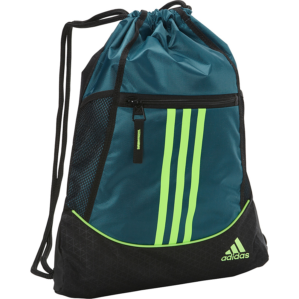 adidas Alliance II Sackpack Veridian/Solar Green - adidas School & Day Hiking Backpacks