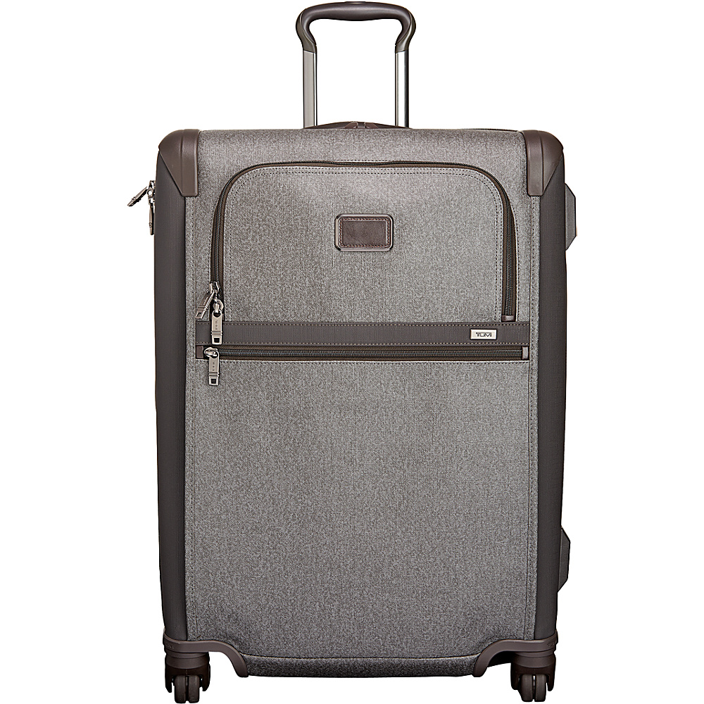 Tumi Alpha 2 Short Trip Expandable 4 Wheeled Packing Case Earl Grey - Tumi Softside Checked