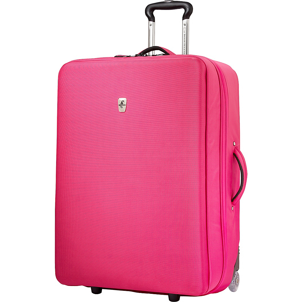 "Atlantic Debut 28"" Upright Luggage Pink - Atlantic Softside Checked"