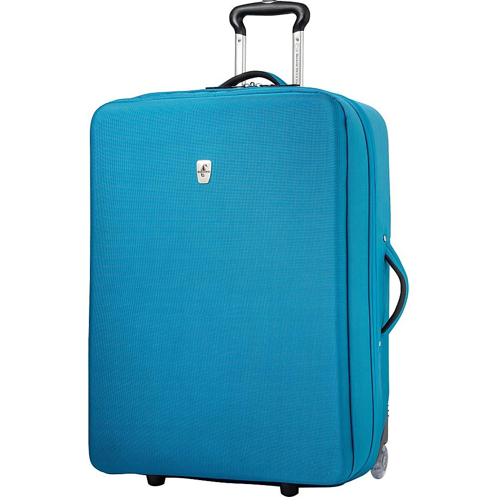 "Atlantic Debut 28"" Upright Luggage Turquoise - Atlantic Softside Checked"