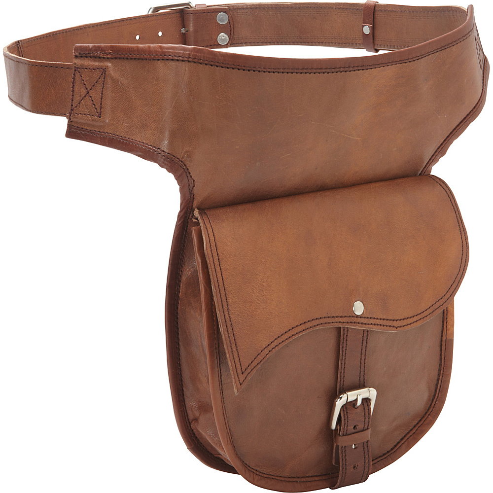 Sharo Leather Bags Leather Adjustable Hip Bag Brown Sharo Leather Bags Waist Packs