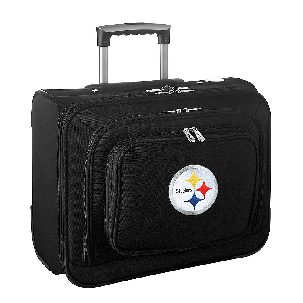 Denco Sports Luggage NFL Pittsburgh Steelers 14   Laptop Overnighter Black - Denco Sports Luggage Wheeled Business Cases