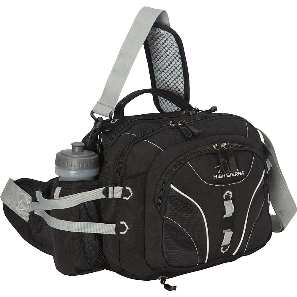 High Sierra Diplomat Lumbar Pack Black Black Silver High Sierra Day Hiking Backpacks