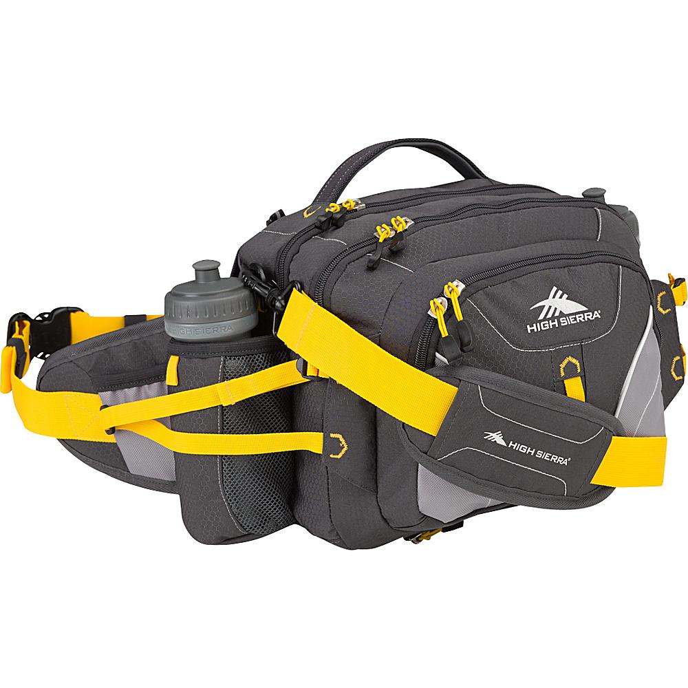 High Sierra Diplomat Lumbar Pack Mercury Ash Yell O High Sierra Day Hiking Backpacks