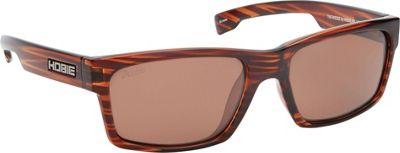 Hobie Eyewear The Wedge Sunglasses Shiny Brown Wood Grain Frame / Copper Polarized PC - Hobie Eyewear Sunglasses
