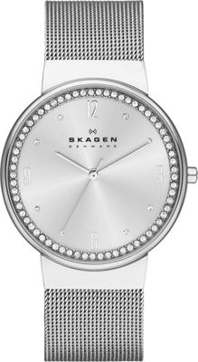 Skagen Klassik Womens Three-Hand Woven Steel Watch Silver - Skagen Watches