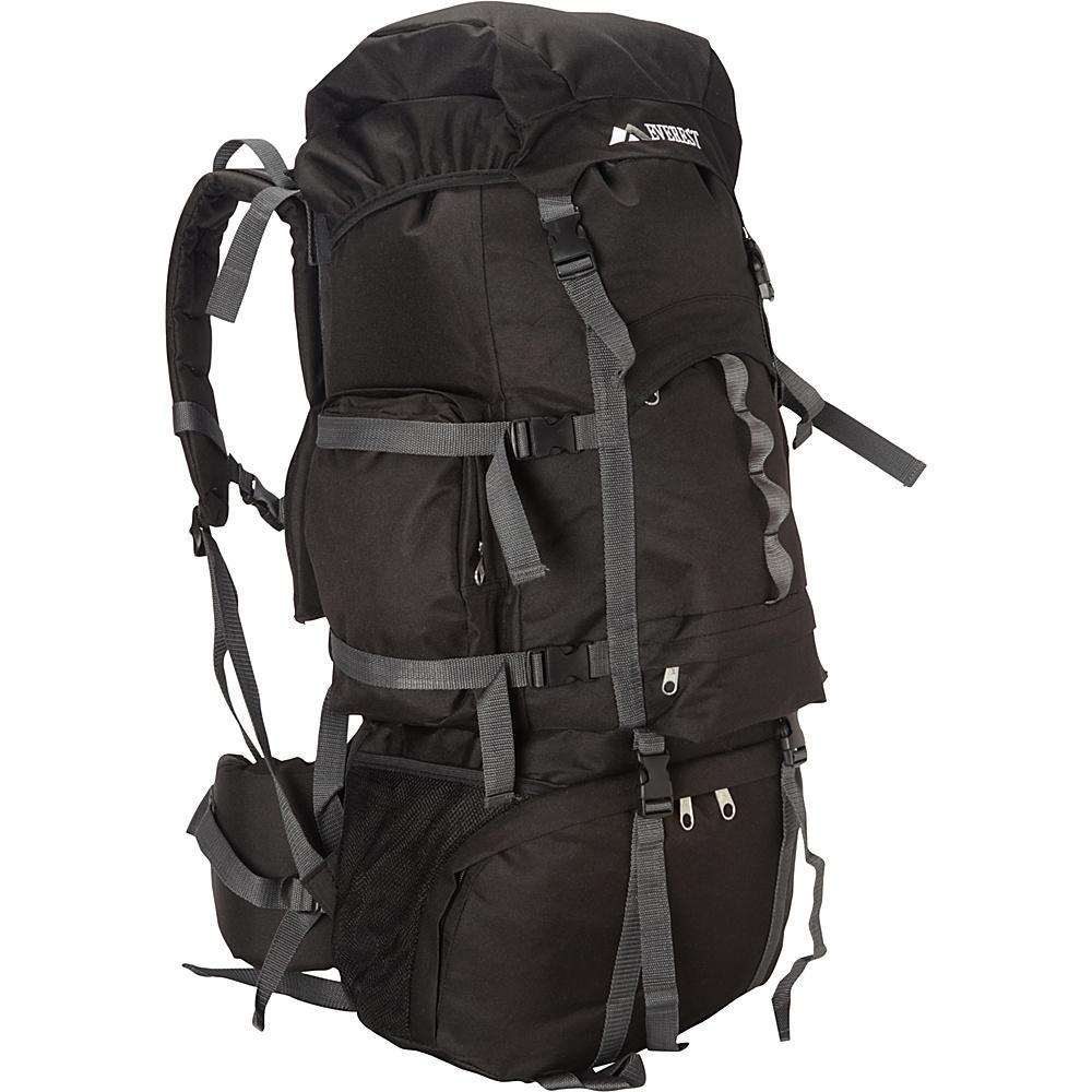 Everest Deluxe Hiking Pack Black - Everest Backpacking Packs - Outdoor, Backpacking Packs