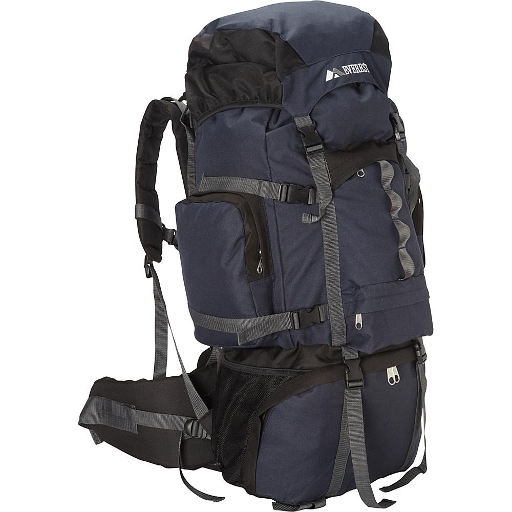 Everest Deluxe Hiking Pack Navy/Black - Everest Backpacking Packs - Outdoor, Backpacking Packs