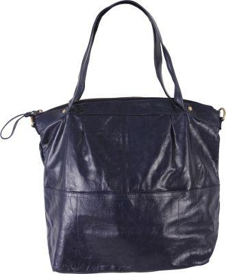 Latico Leathers Martha Satchel Navy - Latico Leathers Leather Handbags