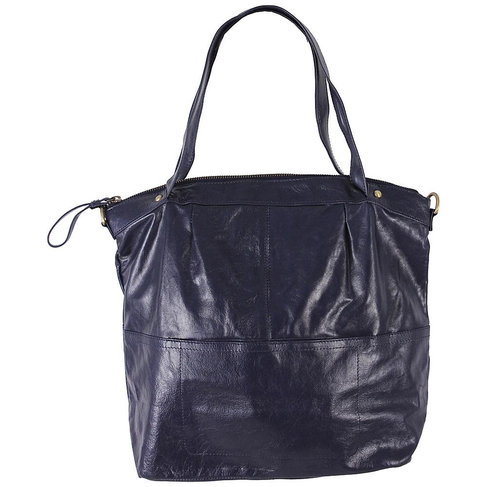 Latico Leathers Martha Satchel Navy Latico Leathers Leather Handbags