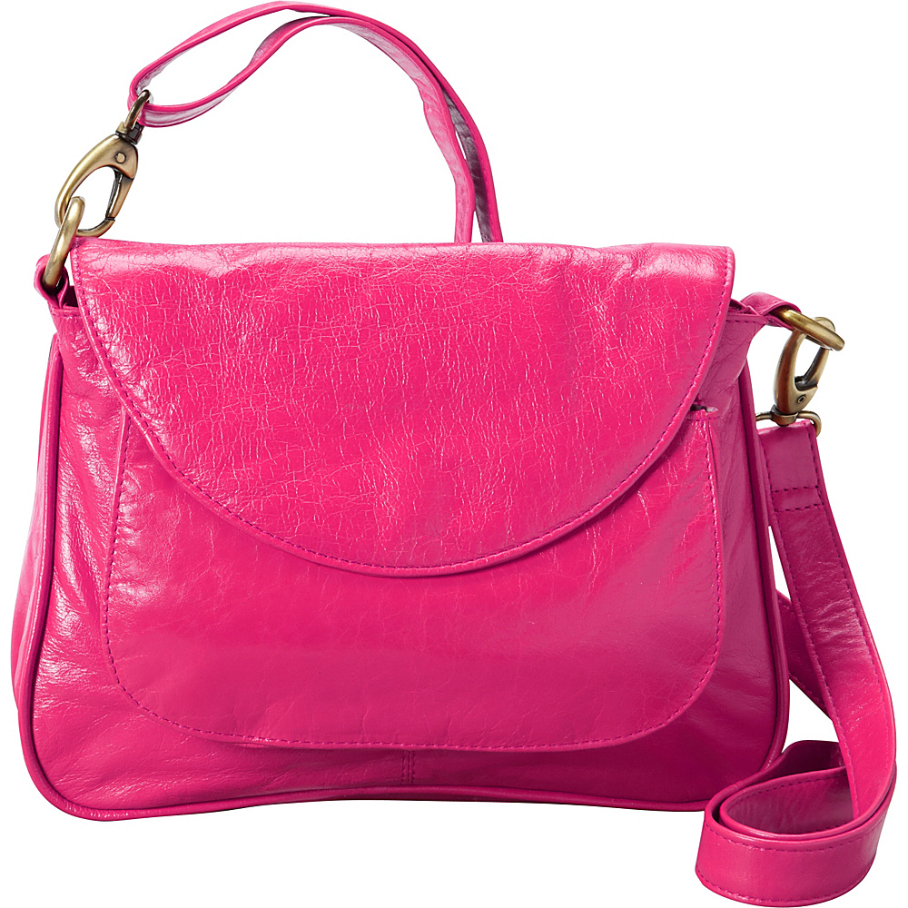 Latico Leathers Sabria Shoulder Bag Fuchsia - Latico Leathers Leather Handbags - Handbags, Leather Handbags