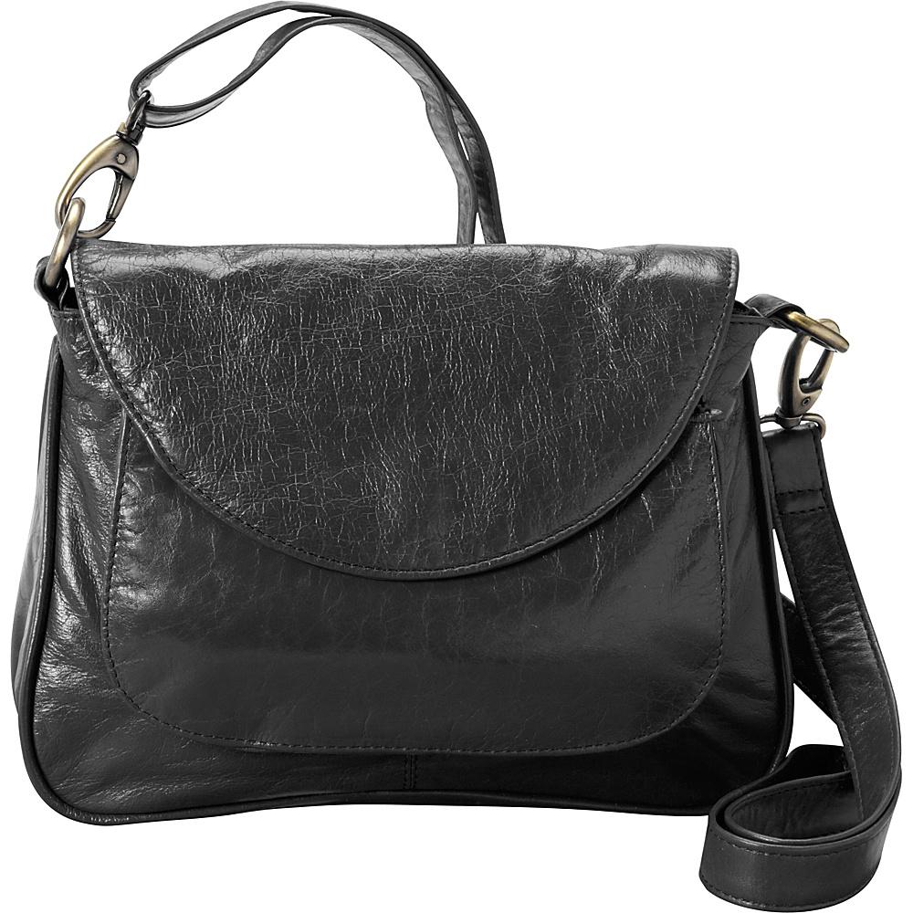 Latico Leathers Sabria Shoulder Bag Black - Latico Leathers Leather Handbags - Handbags, Leather Handbags