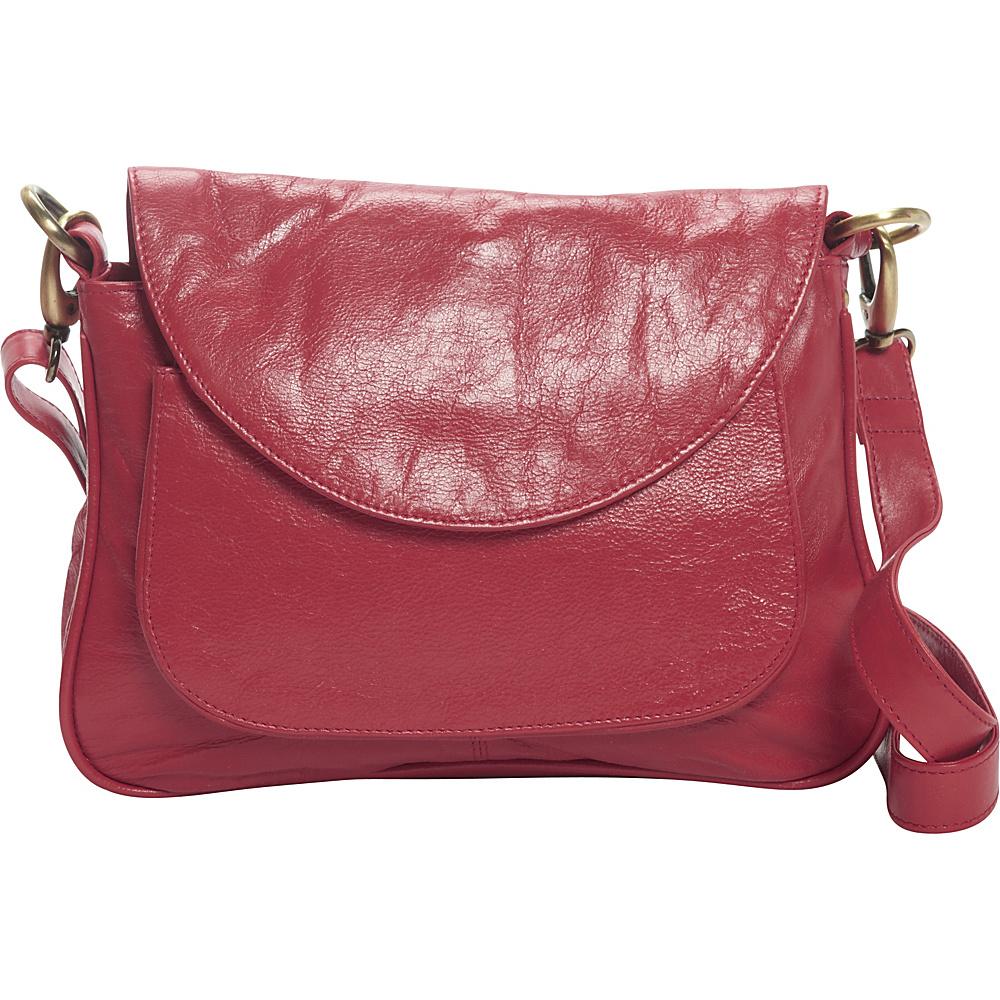 Latico Leathers Sabria Shoulder Bag Berry - Latico Leathers Leather Handbags - Handbags, Leather Handbags