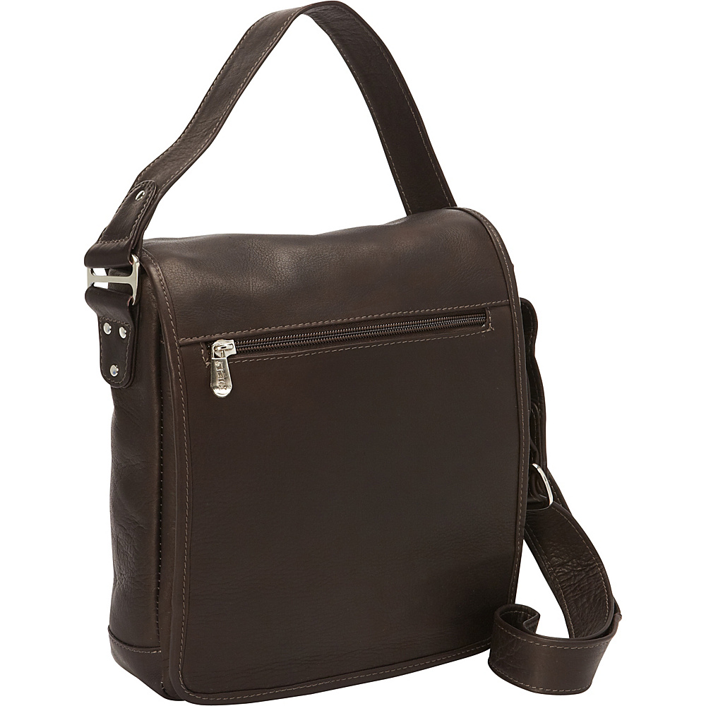 Piel iPad/Tablet Shoulder Bag Chocolate - Piel Other Mens Bags - Work Bags & Briefcases, Other Men's Bags