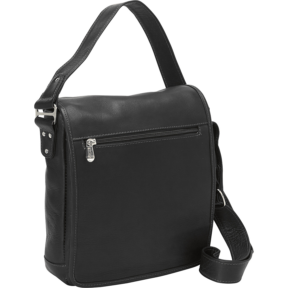 Piel iPad/Tablet Shoulder Bag Black - Piel Other Mens Bags - Work Bags & Briefcases, Other Men's Bags