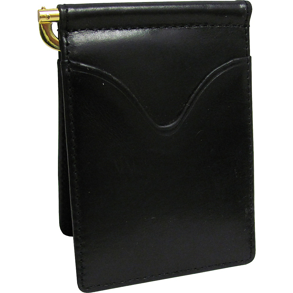 AmeriLeather Leather Money Clip Black - AmeriLeather Mens Wallets - Work Bags & Briefcases, Men's Wallets